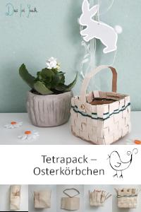 Aus einem Milchkarton wird ein Osternest, praktisches Upcycling