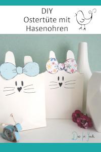 Ostertüte, Hasentüte mit Ohren zum Verschließen DIY für Ostern