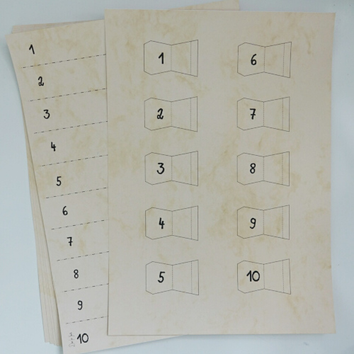 Registerblätter selbermachen, Vorlagen ausdrucken