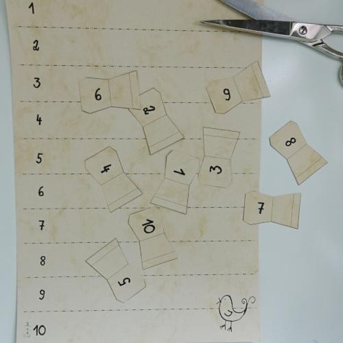 Registerblätter selbermachen, Register ausschneiden