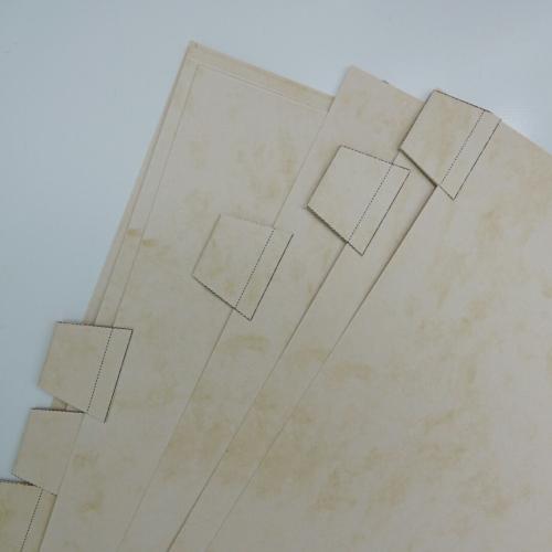 Registerblätter selbermachen, Rückseite