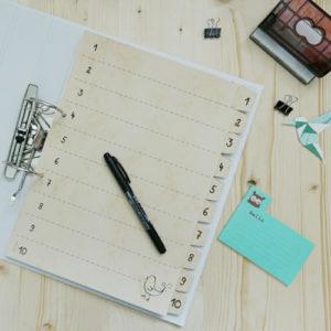 Registerblätter selbermachen mit kostenloser Vorlage
