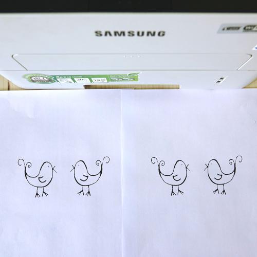 Sommerliche Windlichter aus Transparentpapier, Testdruck