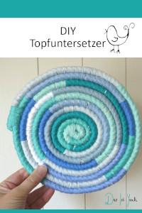 Topfuntersetzer aus Wolle wickeln, Anleitung