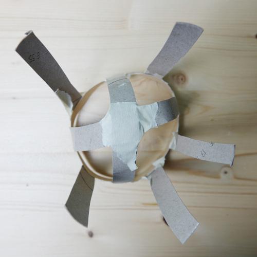SchultüteEistüte, Eiskugel aus Kartonstreifen formen