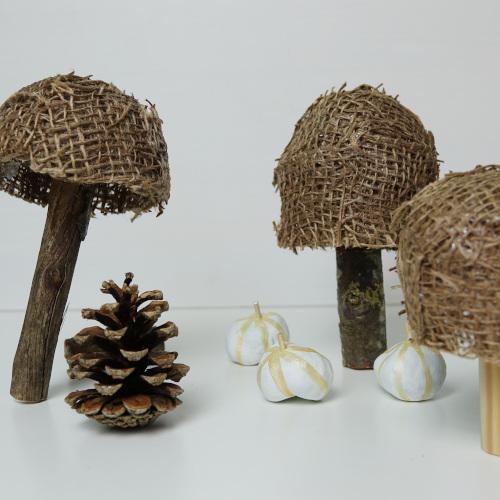 Pilze aus Jute DIY