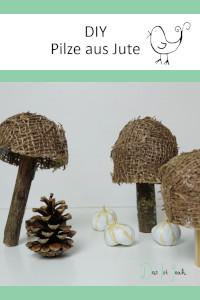Pilze aus Jute, Ran an den Tapetenkleister