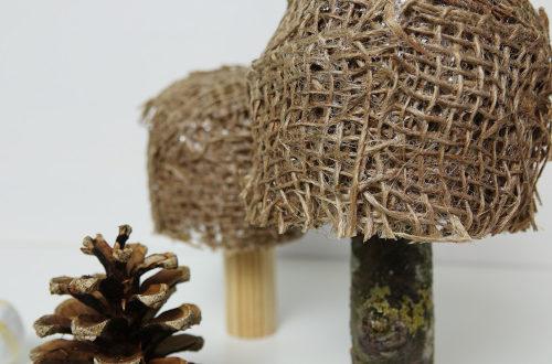 Pilze aus Jute basteln