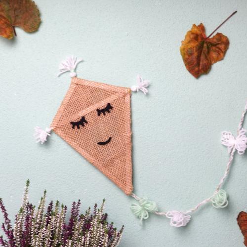 Drachen aus Jute basteln. Herbstdeko selbermachen