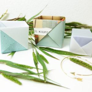 Schachtel falten Anleitung