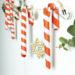 Adventskalender basteln aus Papier, Zuckerstangen