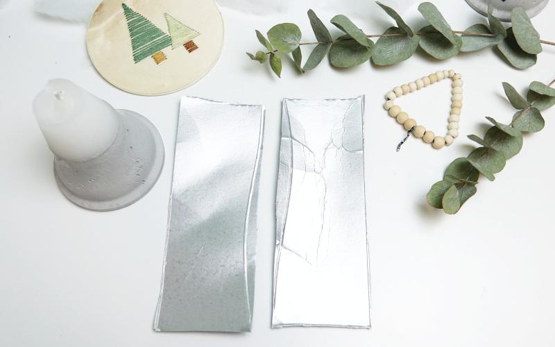 Adventskranz selber machen modern, Tetrapack zerschneiden
