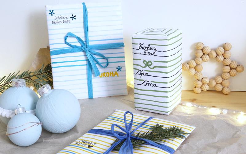 Geschenke nachhaltig verpacken, Weihnachten, alte Hefte