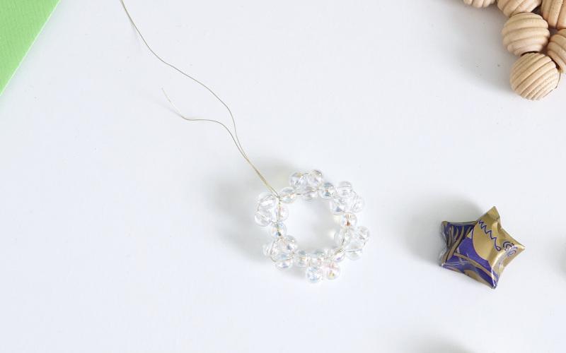 2 Reife fertig, Stern aus Perlen