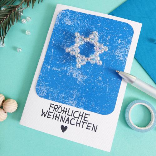 Weihnachtskarten basteln, Anleitung