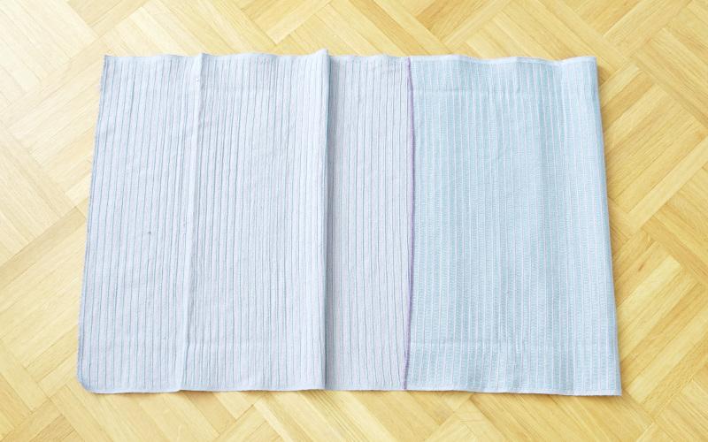 Kissenhülle nähen einfach aus einem tischläufer nähen, rechts aus rechts falten