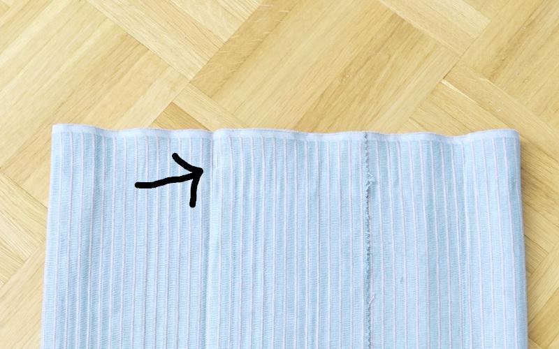 Kissenhülle nähen einfach aus einem tischläufer nähen, markierung