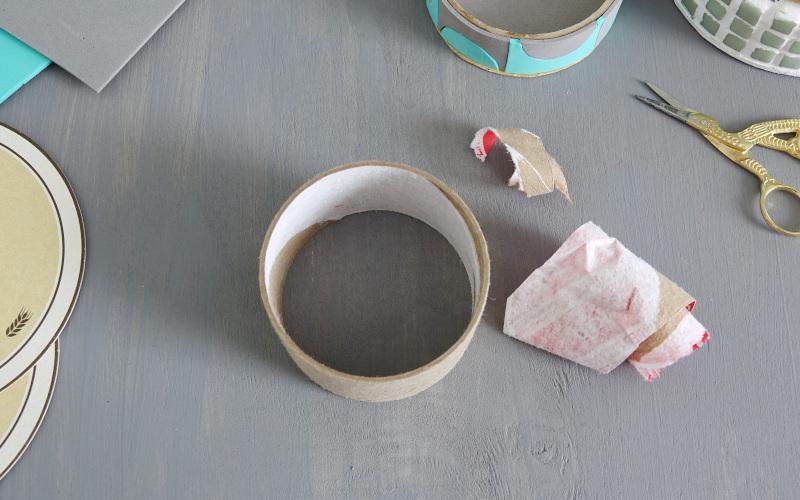 Utensilio selber machen papprolle papier entfernen