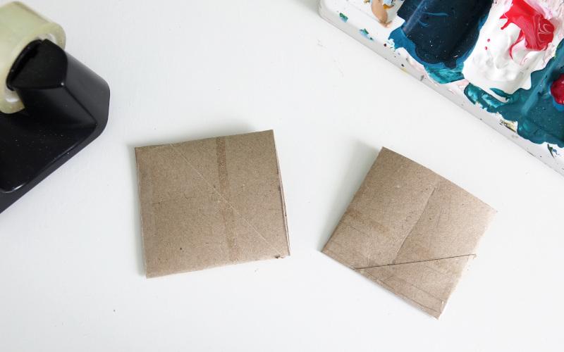 Klopapierrollen: eine seite zukleben