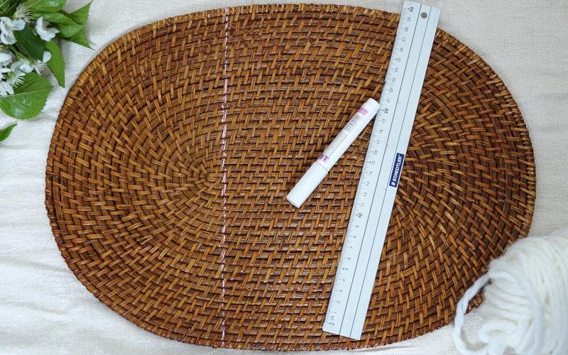 TischSet - Halbkreis einzeichnen und ausschneiden