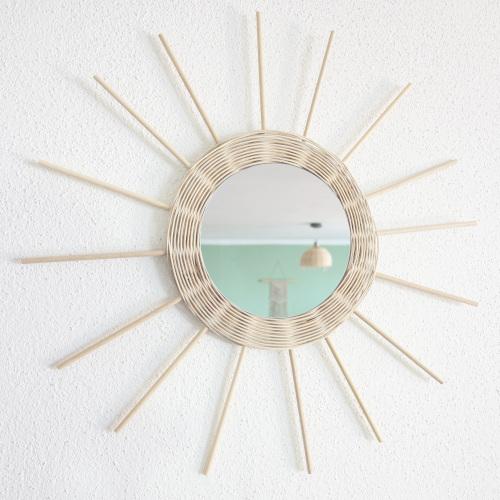 Peddigrohr flechten, Anleitung um einen Spiegel zu verzieren