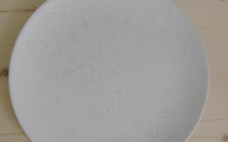 Porzellan bemalen, Ideen, Vorlage auf Porzellan