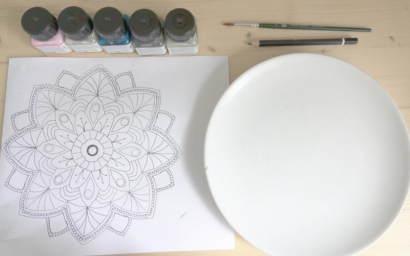 Porzellan bemalen, Ideen und Vorlage
