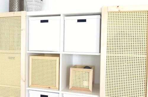 Wiener Geflecht Boxen für Kallax selber machen