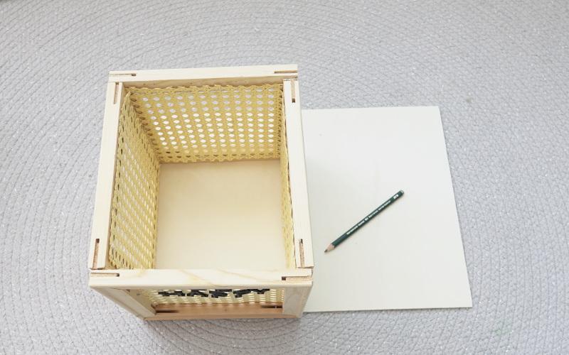 Wiener Geflecht DIY Bodenplatte anzeichnen