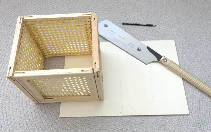 Wiener Geflecht DIY Ikea Hack Kallax Box