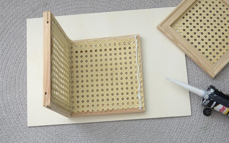 Wiener Geflecht DIY Rahmen zusammenkleben