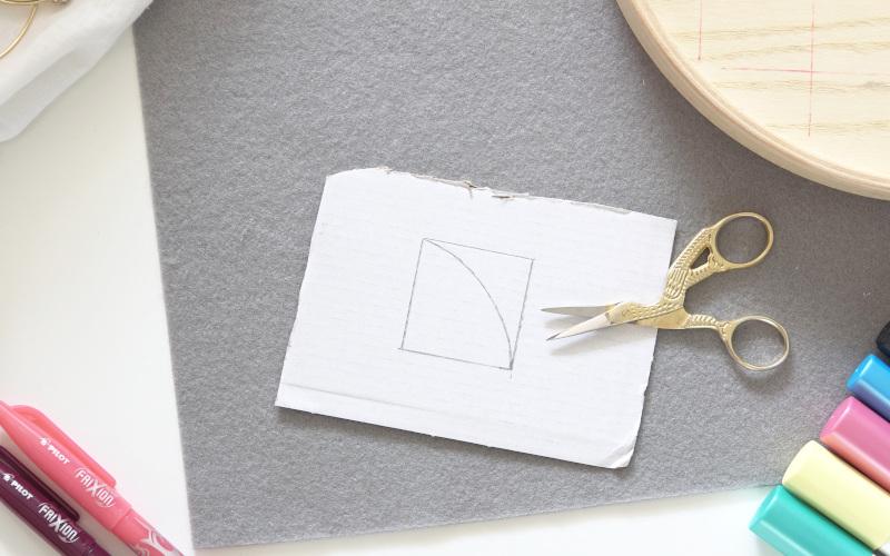 IKEA Hack Dose bemalen, Vorlage auf Karton zeichnen