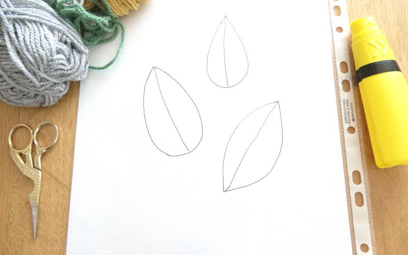 Vorlage für Blätter zeichnen