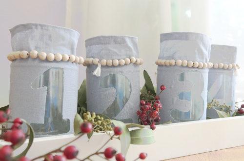 Adventskranz aus Gläsern basteln