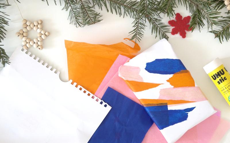 Mit Seidenpapier deine Geschenke aufpeppen