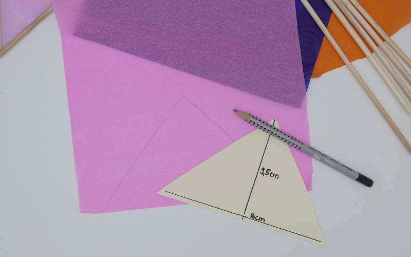 Vorlage für Dreiecke erstellen