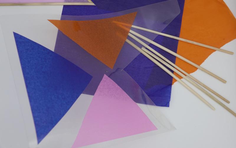Dreiecke einlaminieren