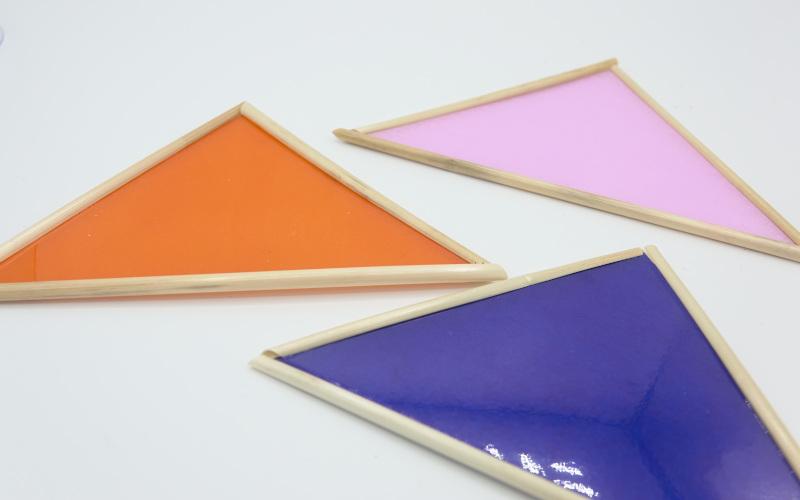 Wandschmuck aus Tranparentpapier