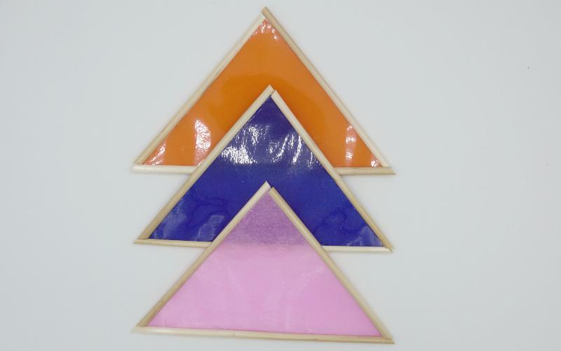Wandschmuck aus Transparentpapier